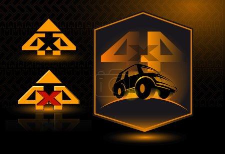 Vector logo 4x4