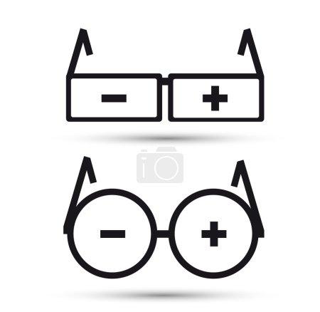 Vector Round Glasses Icon