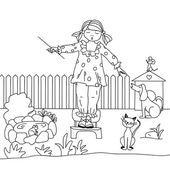 Girl conducts animal choir