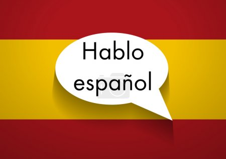 Illustration for Vector Sign Speaking Spanish - Royalty Free Image
