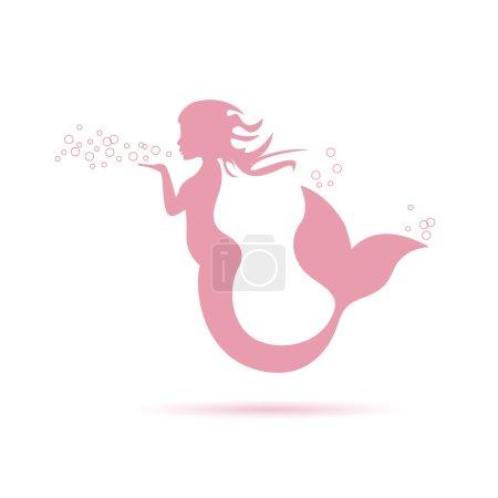 mermaid blowing