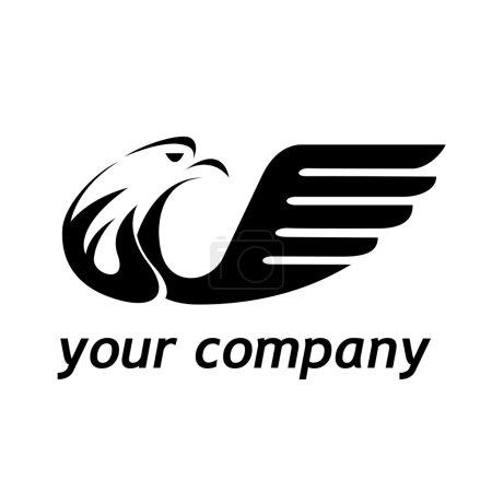 Ilustración de Águila de signo vector en vuelo - Imagen libre de derechos