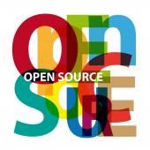 Vector open source Broken text