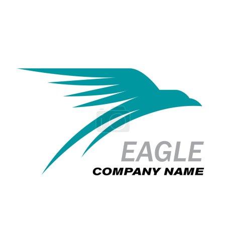 Ilustración de Águila de Logo vector en vuelo - Imagen libre de derechos