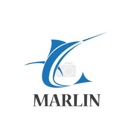 Illustration pour Signe vectoriel marlin abstrait - image libre de droit