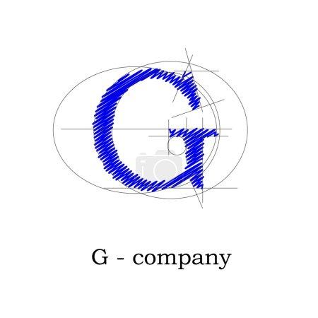 Vector sign design letter G