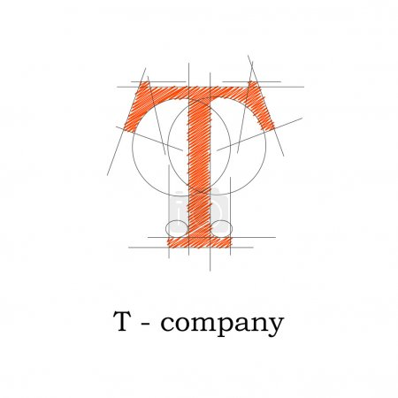 Vector sign design letter T