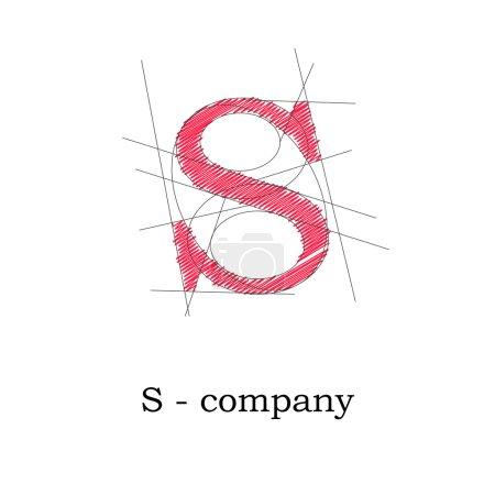 Vector sign design letter S