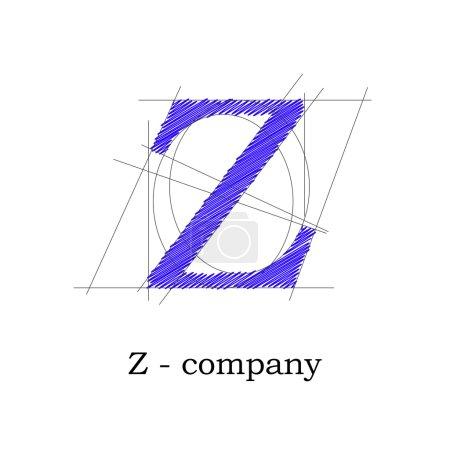 Vector sign design letter Z