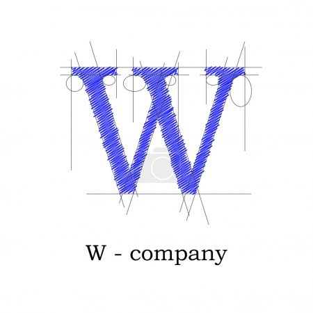 Vector sign design letter W