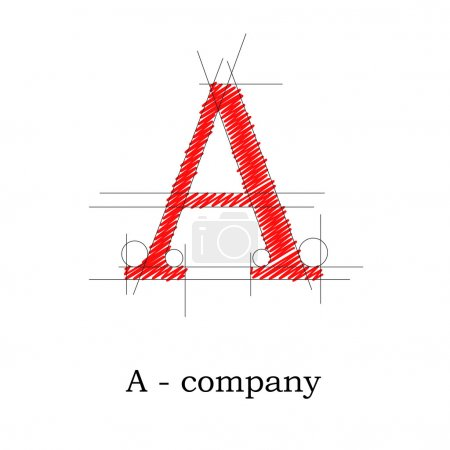Vector sign design letter A