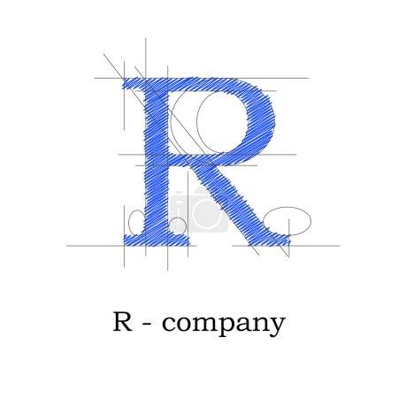 Vector sign design letter R