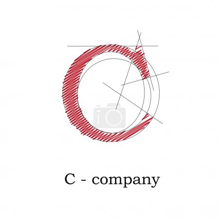 Vector sign design letter C