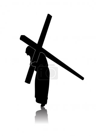 Photo for Silhouette of the Passion of Christ - Royalty Free Image