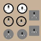 Fencing icons in grey black and white easy to edit