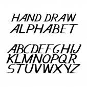 hand draw alphabet letters under the classical bias to design greeting cards posters banners labels for Web sites icons and logos