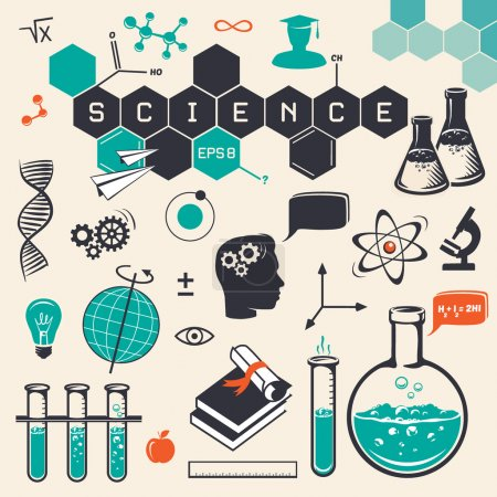 Photo for Science icons set. Vector illustration - Royalty Free Image