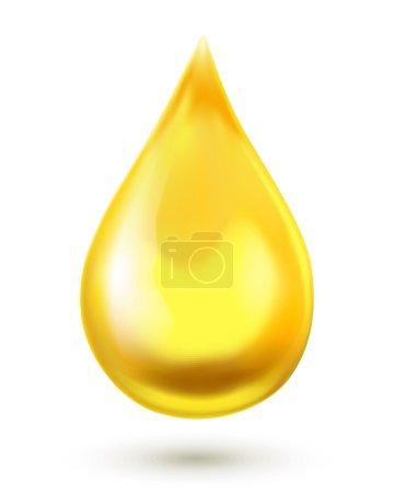 Illustration pour Goutte d'huile isolée sur fond blanc - image libre de droit