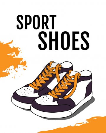 Vector illustration of Sport shoes