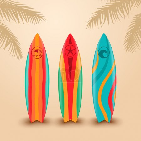 Illustration for Surf boards with different design - Royalty Free Image