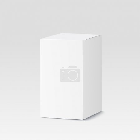 Illustration for Cardboard box on white background. White container, packaging. Vector illustration - Royalty Free Image