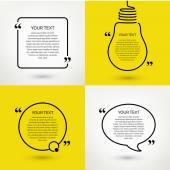 Set of quote text frames. Vector format