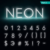 Neon alphabet Glowing font Vector format part 2