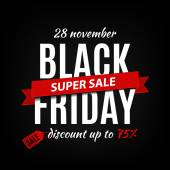 Black friday sale inscription design template Black friday banner Vector illustration