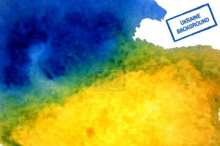 Illustration for Yellow blue Ukrainian watercolor background. Vector - Royalty Free Image
