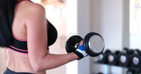 Woman in training gym