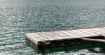 Wooden dock overlooking a gorgeous lake