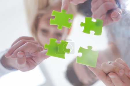 Cooperation in business concept