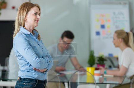 Mature woman on business meeting