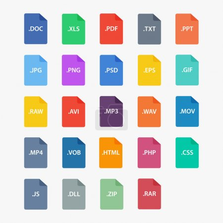 File type icon.  File extensions vector illustrati...