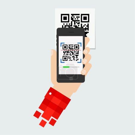 Illustration QR-code scanning