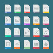 A set of flat icons of file formats
