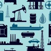 Oil industry seamless pattern