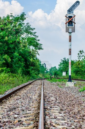 Railway track at thailand