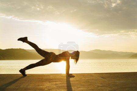 Yoga - Girl doing pose