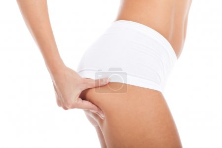 Cellulite free on white background