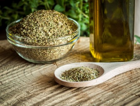 oregano spices and olive oil from greece