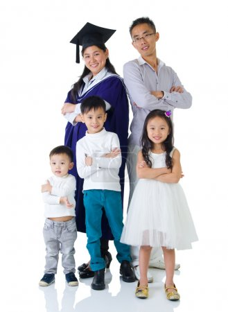 Lovely asian family