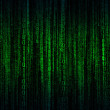Abstract background with green - blue digital line...