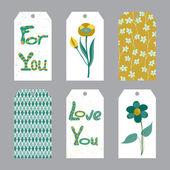 Set of printable tags