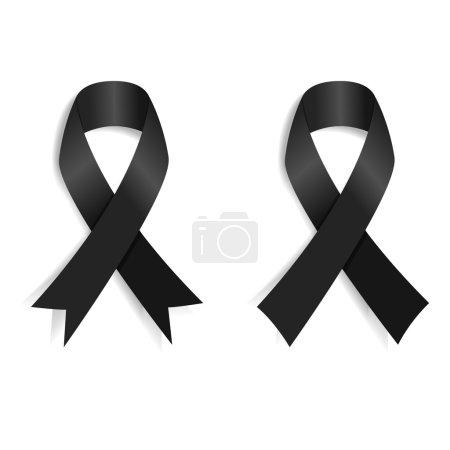 Illustration for Set of the Black ribbon. Design element in vector. - Royalty Free Image