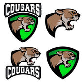 cougars  sport team logo template