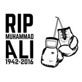 Rip Muhammad Ali Boxing gloves isolated on white background De