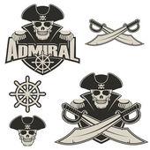 Admiral Vector logo template  Vector illustration