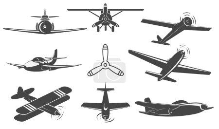 planes set in vector