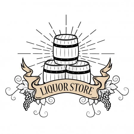 liquor store label
